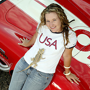 Kim Rhode, two time Olympic Gold Medalist in Skeet Shooting. Photographed for Sports Illustrated.