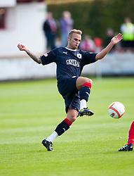 Falkirk's Kallum Higginbotham..Brechin City 1 v 2 Falkirk, The Ramsden Cup..©Pic : Michael Schofield.