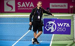 PORTOROZ, SLOVENIA - SEPTEMBER 19:  Photographer Nik Moder after the Singles final during the WTA 250 Zavarovalnica Sava Portoroz at SRC Marina, on September 19, 2021 in Portoroz / Portorose, Slovenia. Photo by Vid Ponikvar / Sportida