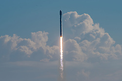 September 7, 2017 - Cape Canaveral, FL, United States of America - The SpaceX Falcon 9 rocket carrying the U.S. Air Force X-37B spaceplane blasts off from Launch Complex 39A at the Cape Canaveral Spaceport hours before Hurricane Irma shuts down the region September 7, 2017 in Cape Canaveral, Florida. The payload is a reusable robotic mini-shuttle that could stay aloft for years with clandestine on-board experiments. (Credit Image: © Spacex/Planet Pix via ZUMA Wire)