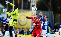 Fotball , 30. mars 2014 , Tippeligaen , Eliteserien , Sarpsborg - Brann 3-0<br /> <br /> Erik Huseklepp , Brann<br /> Bojan Zajic , Sarpsborg<br /> Duwayne Oriel Kerr , Sarpsborg