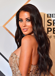 Yazmin Oukhellou during the red carpet arrivals for the BBC Sports Personality of the Year 2018 at The Vox at Resorts World Birmingham.