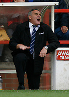 Photo: Richard Lane/Richard Lane Photography. Nottingham Forest v Cardiff City. Coca Cola Championship. 24/10/2008. Dave Jones shows frustration