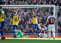 Football - 2018 / 2019 Premier League - Arsenal vs. Southampton<br /> <br /> Alexandre Lacazette (Arsenal FC) reacts after firing over the bar from close range at The Emirates.<br /> <br /> COLORSPORT/DANIEL BEARHAM