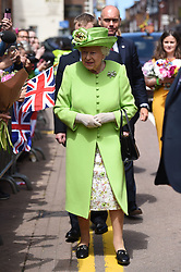 Queen Elizabeth II meets the crowds during a walk about in Chester.