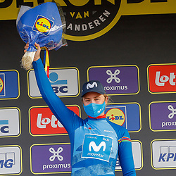 04-04-2021: Wielrennen: Ronde van Vlaanderen (Vrouwen): Oudenaarde<br />Emma Jorgensen is leidster jongerenklassement