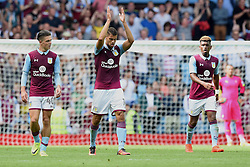 Rudy Gestede of Aston Villa celebrates his second goal at Villa Park against Rotherham United - Mandatory by-line: Paul Knight/JMP - 13/08/2016 - FOOTBALL - Villa Park - Birmingham, England - Aston Villa v Rotherham United - Sky Bet Championship