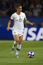 June 28, 2019 - Paris, France - Alex Morgan (Orlando Pride) of United States controls the ball during the 2019 FIFA Women's World Cup France Quarter Final match between France and USA at Parc des Princes on June 28, 2019 in Paris, France. (Credit Image: © Jose Breton/NurPhoto via ZUMA Press)