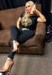 """Coco Austin releases a photo on Twitter with the following caption: """"""""Moments during the """"Hip Hop Legends""""rap show in Michigan...<br />  From sitting on the side of the stage to Chanel running around in the dressing room.. It was nice to see @icecube and family <br /> <br /> Pics continued..."""""""". Photo Credit: Twitter *** No USA Distribution *** For Editorial Use Only *** Not to be Published in Books or Photo Books ***  Please note: Fees charged by the agency are for the agency's services only, and do not, nor are they intended to, convey to the user any ownership of Copyright or License in the material. The agency does not claim any ownership including but not limited to Copyright or License in the attached material. By publishing this material you expressly agree to indemnify and to hold the agency and its directors, shareholders and employees harmless from any loss, claims, damages, demands, expenses (including legal fees), or any causes of action or allegation against the agency arising out of or connected in any way with publication of the material."""