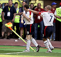 Fotball, 17. juni 2004, EM, Euro 2004, Sveits -  England, Wayne Rooney, David Beckham (ENG)<br /> <br /> Foto: Digitalsport