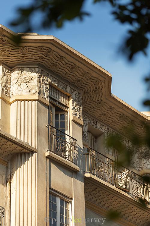 Art deco architecture on Boulevard Mohammed V, Casablanca, Morocco.