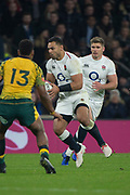 Twickenham, United Kingdom, Saturday, 24th  November 2018, RFU, Rugby, Stadium, England, Center Ben TR'O, supported by Owen FARRELL, during the Quilter Autumn International, England vs Australia, © Peter Spurrier , [Mandatory Credit: Peter Spurrier/Intersport Images],