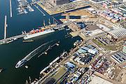 Nederland, Noord-Holland, Amsterdam, 28-10-2016; winters stadsgezicht, Buiksloterham, voormalige NDSM-werf en omgeving met Nevertitaweg, Ondinaweg, NDSM-plein.<br />  Winter scene, Amsterdam-North, former shipyard, newly developed area.<br />  <br /> luchtfoto (toeslag op standard tarieven);<br /> aerial photo (additional fee required);<br /> copyright foto/photo Siebe Swart