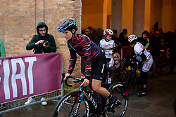 Elena Cecchini at Strade Bianche - Elite Women 2018 - a 136 km road race on March 3, 2018, starting and finishing in Siena, Italy. (Photo by Sean Robinson/Velofocus.com)