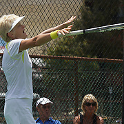 Kerry Ballard, Australia, winning the 60 Womens Singles Final during the 2009 ITF Super-Seniors World Team and Individual Championships at Perth, Western Australia, between 2-15th November, 2009.