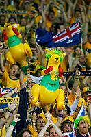Photo: Glyn Thomas.<br /> Croatia v Australia. Group F, FIFA World Cup 2006. 22/06/2006.<br /> Australia fans celebrate progressing to the second round.
