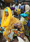 Women in the main square on market day in Djenné, Mali