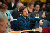 DEU, Deutschland, Germany, Berlin, 17.11.2018: Der Juso-Bundesvorsitzende Kevin Kühnert beim Landesparteitag der Berliner SPD im Hotel Maritim.