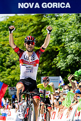 Diego ULISSI of UAE TEAM EMIRATES celebrates victory during the 4th Stage of 27th Tour of Slovenia 2021 cycling race between Ajdovscina and Nova Gorica (164,1 km), on June 12, 2021 in Slovenia. Photo by Matic Klansek Velej / Sportida