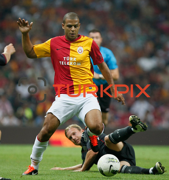 Galatasaray's Felipe MELO (L) during their Friendly soccer match Galatasaray between Liverpool at the TT Arena at Arslantepe in Istanbul Turkey on Saturday 28 July 2011. Photo by TURKPIX