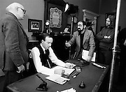 Louis Marcus, (right) directs a documentary film on the 1916 leader, Padraig Pearse - Revival: Pearse's Concept of Ireland, to mark the centenary of Pearse's birth. Centre is actor John Kavanagh, who played the part of Pearse.<br /> 13/12/1979