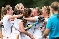 BREDA - Charlotte Adegeest (m)  heeft gescoord   tijdens de finale van het Volvo Invitatie Toernooi U21 tussen de vrouwen van Nederland (Jong Oranje)  en China (5-1) . COPYRIGHT KOEN SUYK