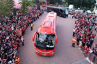 Football - 2021 / 2022 UEFA Champions League - Group B, Round One - Liverpool vs AC Milan - Anfield - Wednesday 15th September 2021<br /> <br /> <br /> <br /> Liverpool FC team coach arrive at Anfield<br /> <br /> <br /> Credit COLORSPORT/Terry Donnelly