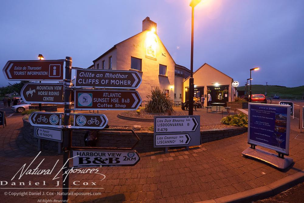 The little village of Doolin, Ireland
