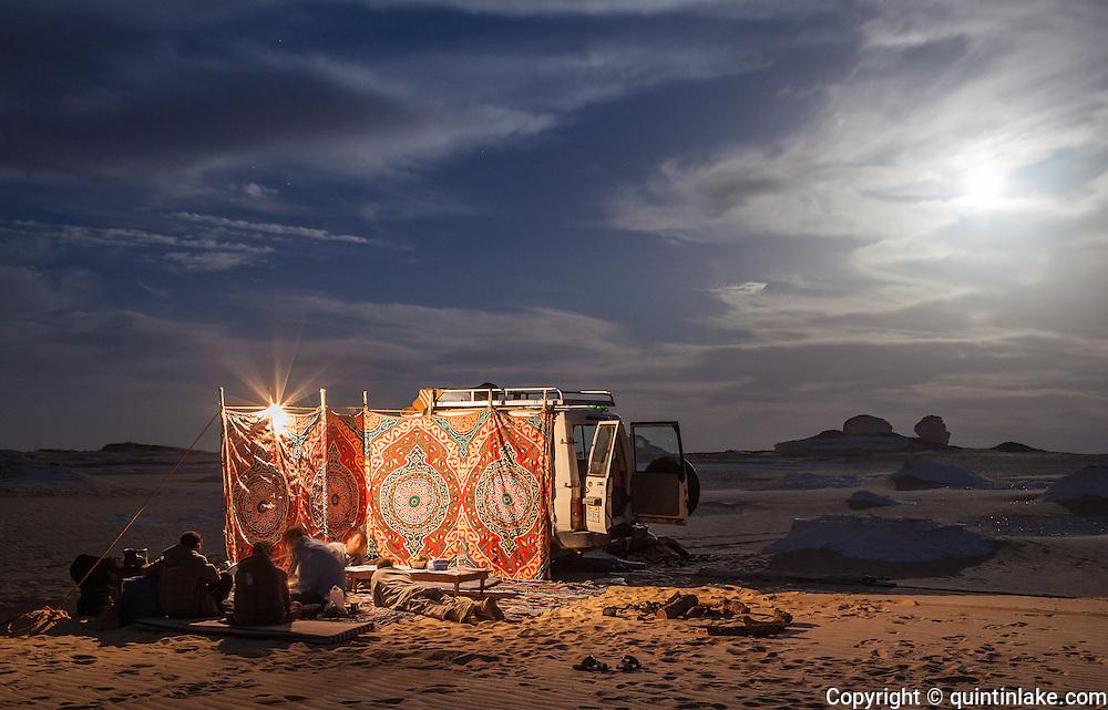 Moonlit Camp in the White Desert, Egypt