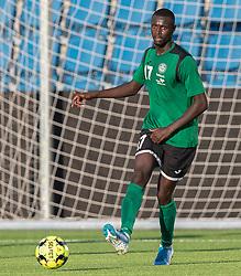 Abdoulie Njai (Næstved Boldklub) under træningskampen mellem FC Helsingør og Næstved Boldklub den 19. august 2020 på Helsingør Stadion (Foto: Claus Birch).