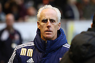Ipswich Town Manager Mick McCarthy looks on prior to kick off. Skybet football league Championship match, Burnley v Ipswich Town at Turf Moor in Burnley, Lancs on Saturday 2nd January 2016.<br /> pic by Chris Stading, Andrew Orchard sports photography.