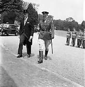 17/05/1961<br /> 05/17/1961<br /> 17 May 1961<br /> New U.S. Ambassador Edward Grant Stockdale presents his credentials at Aras an Uachtarain. Picture shows  Ambassador Stockdale entering the Aras having inspected the Guard of Honour.