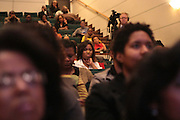 May 7, 2012- New York, NY United States: - Audience at the Theater Talks at the Schomburg: A Streetcar Named Desire held at the Schomburg Center for Research in Black Culture, part of the New York Public Library on May 7, 2012 in Harlem Village, New York City. The Schomburg Center for Research in Black Culture, a research unit of The New York Public Library, is generally recognized as one of the leading institutions of its kind in the world. For over 80 years the Center has collected, preserved, and provided access to materials documenting black life, and promoted the study and interpretation of the history and culture of peoples of African descent.  (Photo by Terrence Jennings) .