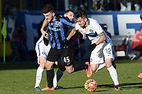 Gaetano Monachello Atalanta, Marcelo Brozovic, Alex Telles Inter <br /> Bergamo 16-01-2016 Stadio Atleti Azzurri d'Italia Football Calcio Serie A 2015/2016 Atalanta - Inter foto Image Sport/Insidefoto