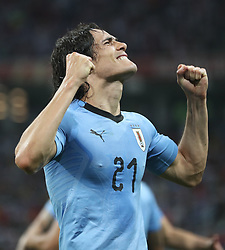 SOCHI, June 30, 2018  Edinson Cavani of Uruguay celebrates scoring during the 2018 FIFA World Cup round of 16 match between Uruguay and Portugal in Sochi, Russia, June 30, 2018. (Credit Image: © Fei Maohua/Xinhua via ZUMA Wire)