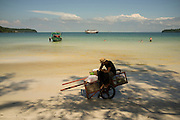 A worker rests, Koh Rong Island, Kingdom of Cambodia. PHOTO TIAGO MIRANDA