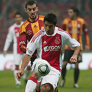Galatasaray's Anil DILAVER (B) and Ajax's Luis SUAREZ (F) during their Friendly soccer match Galatasaray between Ajax at the Turk Telekom Arena at Arslantepe in Istanbul Turkey on Saturday 15 January 2011. Turkish soccer team Galatasaray new stadium Turk Telekom Arena opening ceremony. Photo by TURKPIX