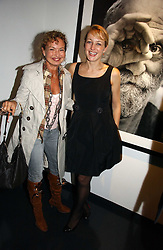 Left to right, COUNTESS MAYA VON SCHONBURG and RITA KONIG at a private view of an exhibition of portrait photographs by Danish photographer Marc Hom held at the Hamiltons Gallery, 13 Carlos Place, London on 23rd October 2006.<br />