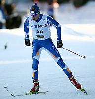 """Ski """"Viessmann"""" Cross Country Fis World Cup , <br /> Men  15 km Free Individual <br /> langrenn , <br /> Beitostølen , Norway<br /> 21.11.09<br /> <br /> Foto: Dagfinn Limoseth , Digitalsport<br /> Matti Heikkinen , FIN"""