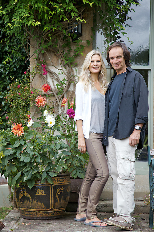 Laurence Delamar and Leonie Nanassy, owners of The Old Rectory, Chumleigh, Devon CREDIT: Vanessa Berberian for The Wall Street Journal<br /> LUXRENT-Nanassy/Chulmleigh
