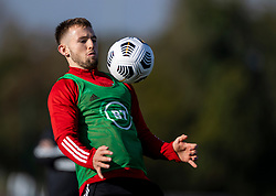 CARDIFF, WALES - Wednesday, October 7, 2020: Wales' Rhys Norrington-Davies during a training session at the Vale Resort ahead of the International Friendly match against England. (Pic by David Rawcliffe/Propaganda)