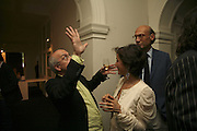 Bill Viola, VIP opening of Bill Viola exhibition Love/Death: The Tristan project. Haunch of Venison, St Olave's College, Tooley St. London and Dinner afterwards at Banqueting House. Whitehall. 19 June 2006. ONE TIME USE ONLY - DO NOT ARCHIVE  © Copyright Photograph by Dafydd Jones 66 Stockwell Park Rd. London SW9 0DA Tel 020 7733 0108 www.dafjones.com