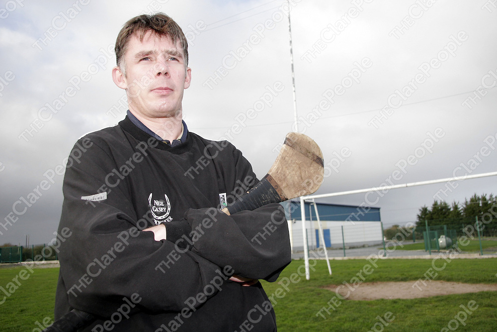 Clarecastle's Martin Sheedy gets ready for one of the last training sessions the side will have before their first game in the Munster Club Semi-Final against Ballygunner.<br /> <br /> Photograph by Yvonne Vaughan.