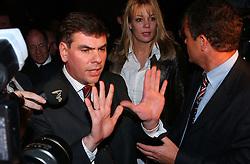 BRUSSELS, BELGIUM - NOV-9-2004 - Belgian Court of Appeals decision in the trial against the Flemish extreme right political party Vlaams Blok. (PHOTO © JOCK FISTICK)..Filip Dewinter - Anke Vandermeersch - Frank Vanhecke<br />