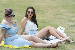 ©Licensed to London News Pictures 15/06/2020<br /> Greenwich, UK. Friends having a social distancing meet up in the park. People out and about in Greenwich park, Greenwich, London enjoying the warm sunny weather and Coronavirus lockdown freedom. Photo credit: Grant Falvey/LNP