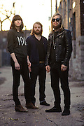 Portraits of UK rock band Band of Skulls photographed in St. Louis on March 23, 2010.