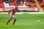 Charlton Athletic midfielder Chris Solly (20) during the EFL Sky Bet League 1 match between Charlton Athletic and AFC Wimbledon at The Valley, London, England on 15 December 2018.
