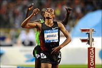 Friidrett<br /> IAAF Diamond League<br /> Brussel 16.09.2011<br /> Foto: PhotoNews/Digitalsport<br /> NORWAY ONLY<br /> <br /> Kenenisa Bekele (ETH) celebrates his victory on the 10000m