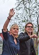 Brad Pitt & Ellen Degeneres visit Make it Right home