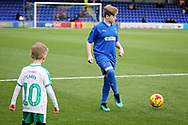 AFC Wimbledon mascot warming up before the EFL Sky Bet League 1 match between AFC Wimbledon and Plymouth Argyle at the Cherry Red Records Stadium, Kingston, England on 26 December 2018.
